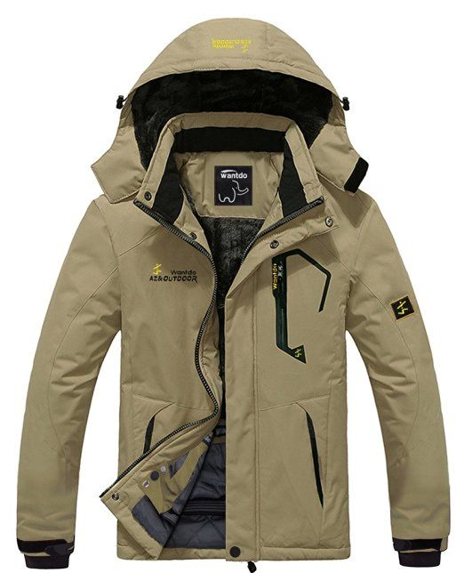 Mens Waterproof Ski Jacket Windproof Mountain Fleece Rain Jacket